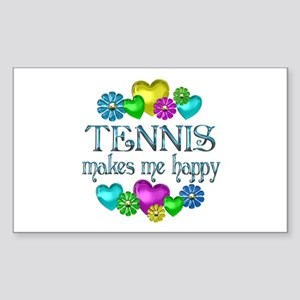 Tennis Happiness Sticker (Rectangle)